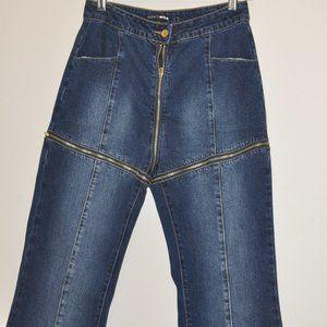 Fashion Nova Please Me Zip off Jeans Size 13/14 32